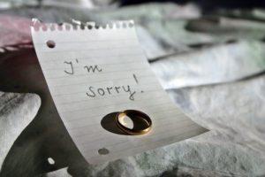 Anglicky vzkaz na papíře - promiň